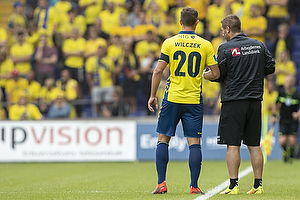 Kamil Wilczek, anf�rer (Br�ndby IF), Martin Retov, assistenttr�ner (Br�ndby IF)
