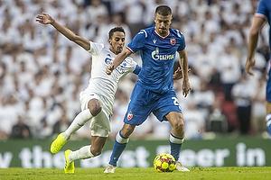 Dusan Jovancic  (R�de Stjerne), Carlos Zeca, anf�rer (FC K�benhavn)