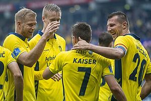Dominik Kaiser, m�lscorer (Br�ndby IF), Kamil Wilczek, anf�rer (Br�ndby IF), Paulus Arajuuri (Br�ndby IF)