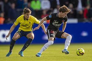 Mikael Uhre (Br�ndby IF), Nikolas Dyhr (FC Midtjylland)