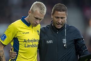 Johan Larsson (Br�ndby IF), Martin Retov, assistenttr�ner (Br�ndby IF)