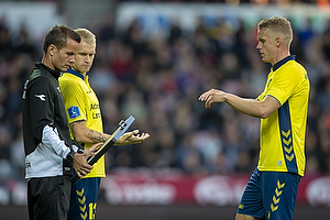 Johan Larsson (Br�ndby IF), Hj�rtur Hermannsson (Br�ndby IF)