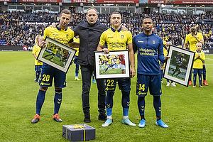 Kamil Wilczek (Br�ndby IF), Carsten V. Jensen, fodbolddirekt�r (Br�ndby IF), Josip Radosevic (Br�ndby IF), Kevin Mensah (Br�ndby IF)