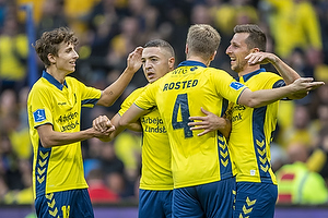 Kamil Wilczek, anf�rer (Br�ndby IF), Josip Radosevic, m�lscorer (Br�ndby IF), Jesper Lindstr�m (Br�ndby IF), Sigurd Rosted (Br�ndby IF)