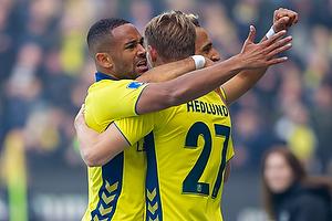 Simon Hedlund, m�lscorer (Br�ndby IF), Hany Mukhtar (Br�ndby IF), Kevin Mensah (Br�ndby IF)