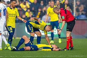 J�rgen Daugbjerg Burchardt, dommer, Josip Radosevic (Br�ndby IF)