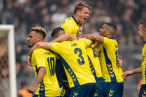 Simon Hedlund (Br�ndby IF), Hany Mukhtar (Br�ndby IF), Kevin Mensah (Br�ndby IF)