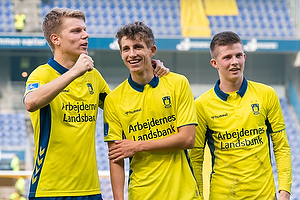 Sigurd Rosted (Br�ndby IF), Jesper Lindstr�m (Br�ndby IF), Morten Frendrup (Br�ndby IF)