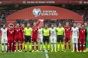 Lasse Sch�ne (Danmark), Henrik Dalsgaard (Danmark), Andreas Christensen (Danmark), Simon Kj�r (Danmark), Andreas Cornelius (Danmark), Thomas Delaney (Danmark)