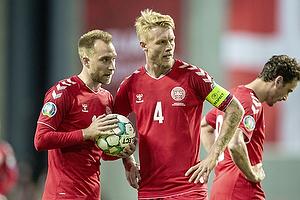 Christian Eriksen (Danmark), Simon Kj�r, anf�rer (Danmark)