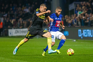 Josip Radosevic (Br�ndby IF), Patrick Da Silva (Lyngby BK)
