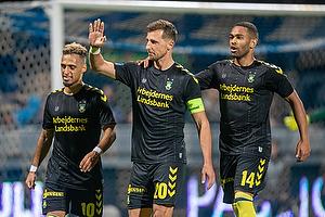 Kamil Wilczek, m�lscorer (Br�ndby IF), Hany Mukhtar (Br�ndby IF), Kevin Mensah (Br�ndby IF)