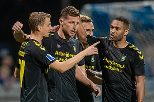 Kamil Wilczek, m�lscorer (Br�ndby IF), Simon Hedlund (Br�ndby IF), Kevin Mensah (Br�ndby IF)