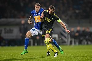 Kamil Wilczek, anf�rer (Br�ndby IF), Nicolai Geertsen (Lyngby BK)