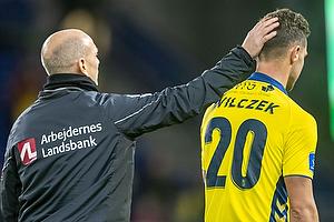 Kamil Wilczek (Br�ndby IF), Jesper S�rensen, assistenttr�ner (Br�ndby IF)