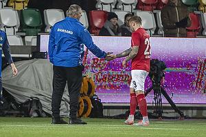 Ronnie Schwartz (Silkeborg IF), Kent Nielsen, cheftr�ner (Silkeborg IF)