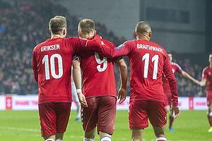 Christian Eriksen (Danmark), Christian Gytkj�r (Danmark), Martin C. Braithwaite (Danmark)