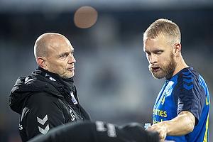 Jesper S�rensen, assistenttr�ner (Br�ndby IF), Johan Larsson (Br�ndby IF)