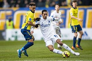 Carlos Zeca, anf�rer (FC K�benhavn), Hany Mukhtar (Br�ndby IF)