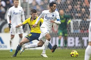 Simon Hedlund (Br�ndby IF), Carlos Zeca, anf�rer (FC K�benhavn)