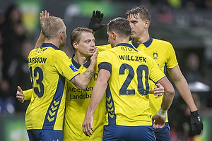 Simon Hedlund (Br�ndby IF), Kamil Wilczek, m�lscorer (Br�ndby IF)
