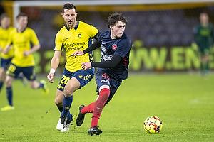 Kamil Wilczek (Br�ndby IF), Nikolas Dyhr (FC Midtjylland)
