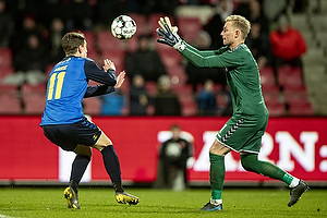 Mikael Uhre (Br�ndby IF), Jacob Rinne (Aab)