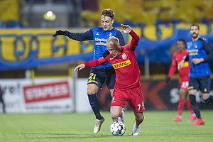 Lasse Vigen Christensen (Br�ndby IF), Mikkel Rygaard, (FC Nordsj�lland)