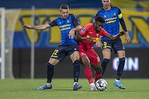 Josip Radosevic (Br�ndby IF), Mohammed Kudus (FC Nordsj�lland)