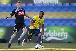 Kevin Mensah (Br�ndby IF), Rasmus Vinderslev (S�nderjyskE)