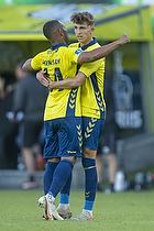 Jesper Lindstr�m, m�lscorer (Br�ndby IF), Kevin Mensah (Br�ndby IF)
