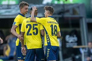 Jesper Lindstr�m, m�lscorer (Br�ndby IF), Anis Slimane (Br�ndby IF), Andreas Maxs� (Br�ndby IF)