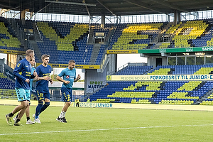 Mikael Uhre (Br�ndby IF), Josip Radosevic (Br�ndby IF), Marvin Schw�be (Br�ndby IF)