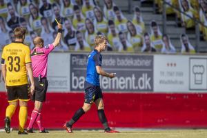Sigurd Rosted (Br�ndby IF), Peter Kj�rdgaard-Andersen, dommer