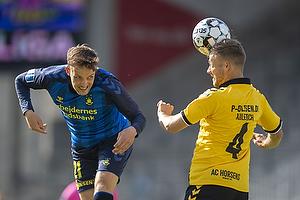 Lasse Vigen Christensen (Br�ndby IF), Malte Kiilerich Hansen (AC Horsens)