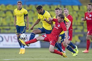 Anis Slimane (Br�ndby IF), Nicolai Poulsen (Agf)