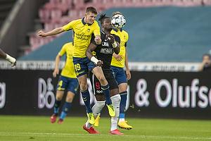 Morten Frendrup (Br�ndby IF), Sory Kaba  (FC Midtjylland)