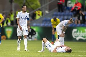Andreas Bjelland  (FC K�benhavn), Carlos Zeca  (FC K�benhavn)