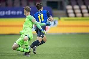Mikael Uhre (Br�ndby IF), Peter Vindahl Jensen  (FC Nordsj�lland)
