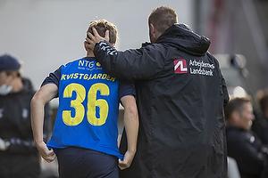 Mathias Kvistgaarden  (Br�ndby IF), Martin Retov, assistenttr�ner (Br�ndby IF)