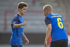 Mathias Kvistgaarden  (Br�ndby IF), Hj�rtur Hermannsson (Br�ndby IF)