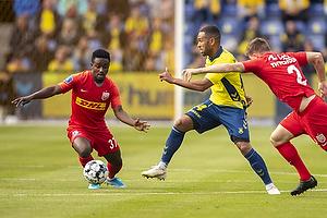 Kevin Mensah (Br�ndby IF), Ibrahim Sadiq  (FC Nordsj�lland)