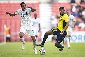 Anis Slimane (Br�ndby IF), Carlos Zeca, anf�rer (FC K�benhavn)