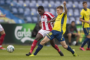 Morten Frendrup (Br�ndby IF), Jores Okore (Aab)