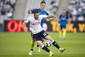 Lasse Vigen Christensen (Br�ndby IF), Casper H�jer Nielsen, spiller (Agf)
