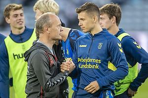Niels Frederiksen, cheftr�ner (Br�ndby IF), Samuel Mraz (Br�ndby IF)