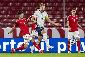 Harry Kane, anf�rer  (England), Christian N�rgaard  (Danmark)
