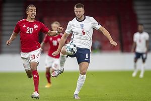 Yussuf Poulsen  (Danmark), Eric Dier  (England)