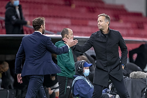 Gareth Southgate, cheftr�ner  (England), Kasper Hjulmand, cheftr�ner  (Danmark)