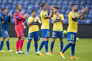 Rezan Corlu (Br�ndby IF), Marvin Schw�be (Br�ndby IF), Andreas Maxs� (Br�ndby IF), Anthony Jung (Br�ndby IF)